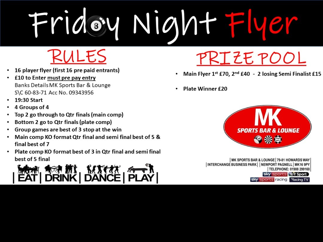 ***FRIDAY NIGHT FLYER IS BACK***