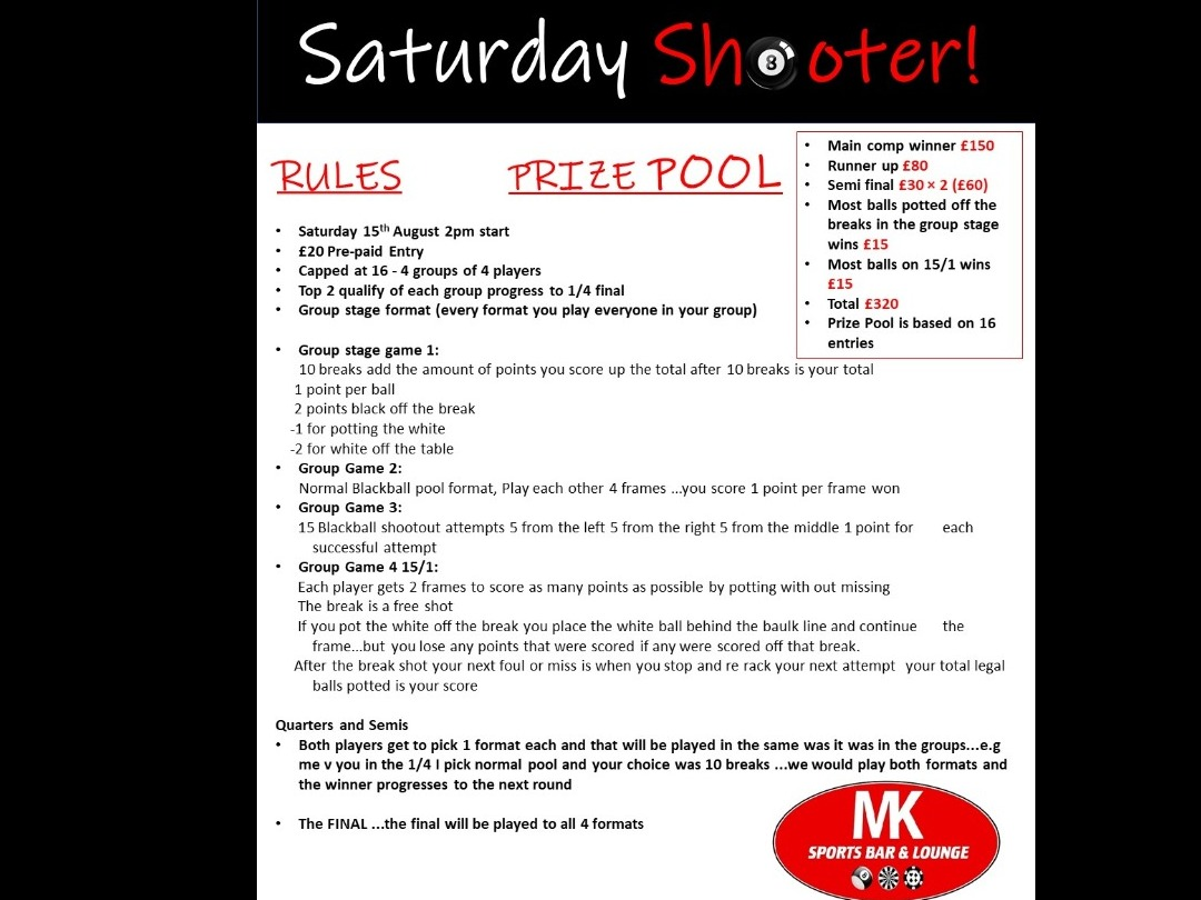 ***NEW COMP*** Saturday Shooter
