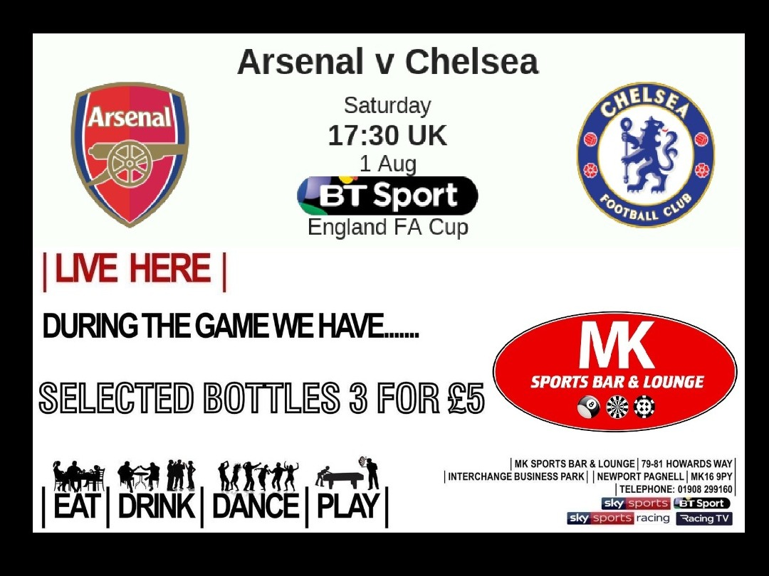 FA CUP Final! Aug 1st 17:30