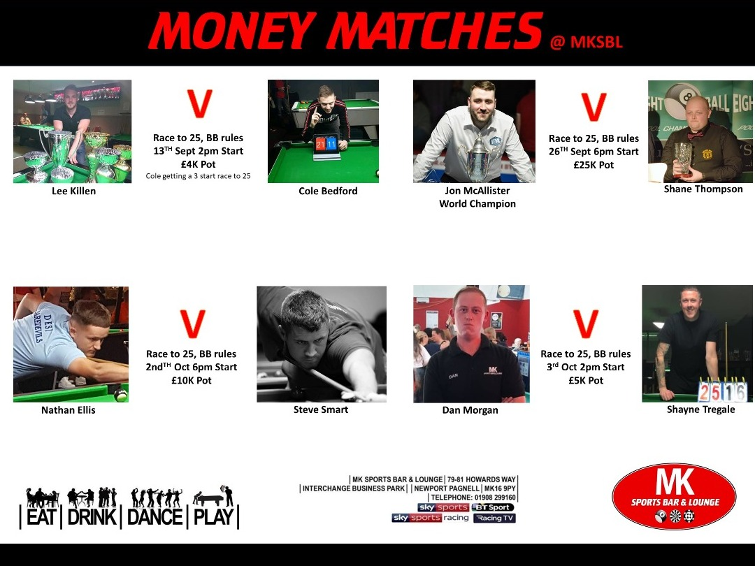 Money Matches at MKSBL