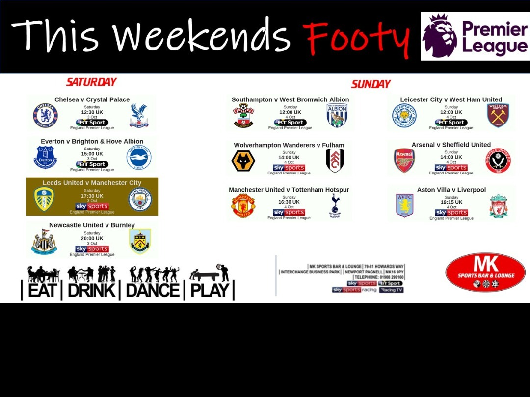 This Weekends Footy