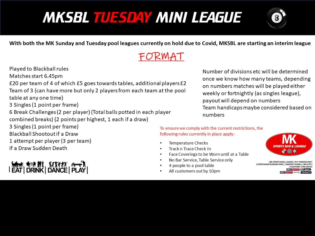 ***NEW*** Tuesday Mini League Starting soon