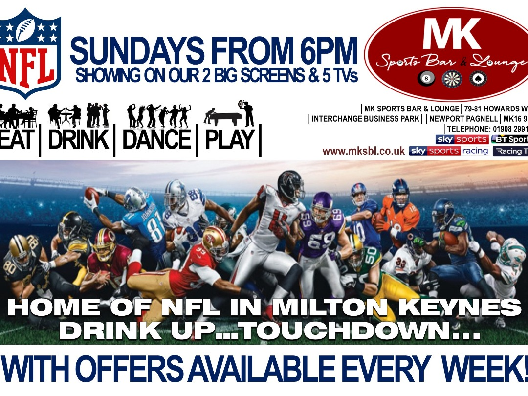 NFL Sundays start Sunday 8th