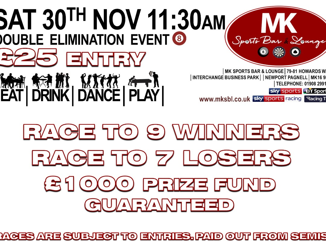 £1000 Guaranteed Double Elimination Event