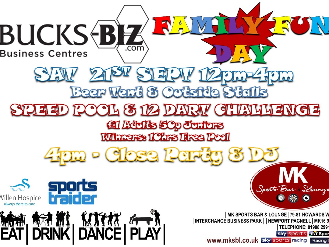 Charity Family Fun Day at Bucks-Biz & MK Sports bar & Lounge