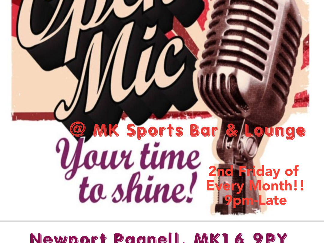 Open Mic Night every 2nd Friday of every month