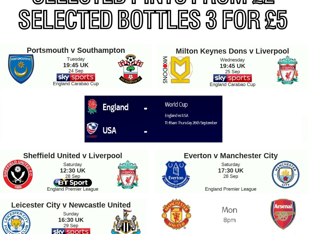 This weekends Live sport at MK Sports Bar & Lounge