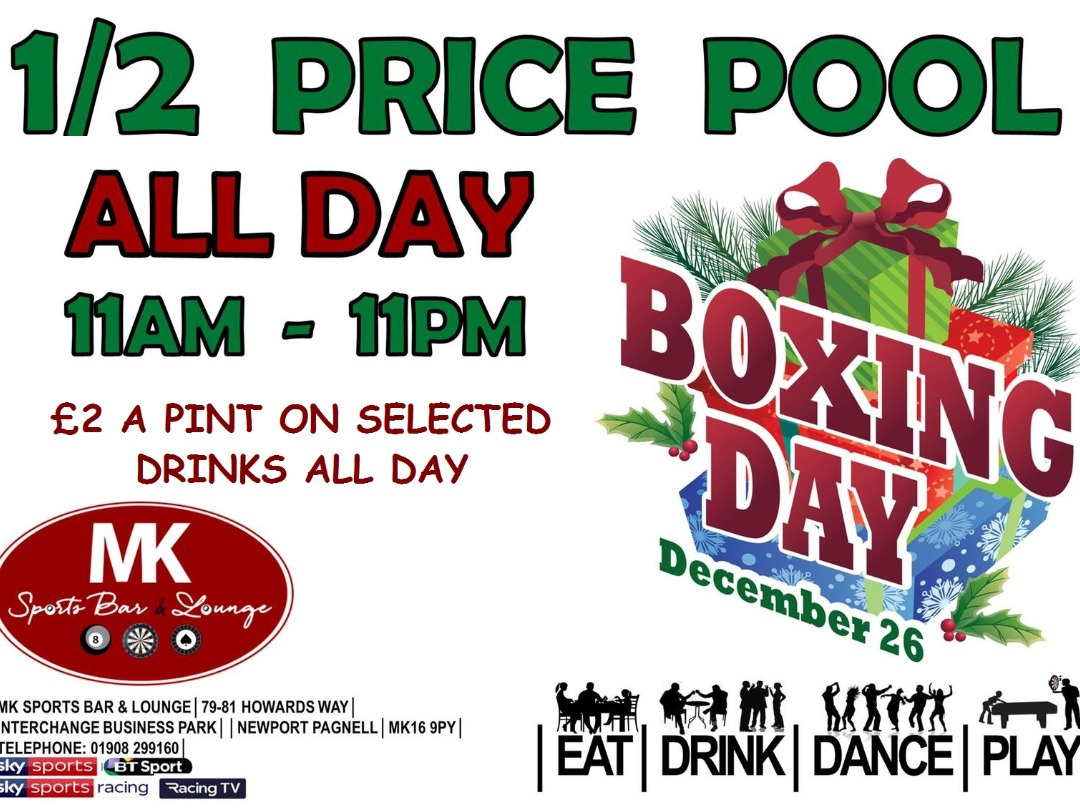 ***BOXING DAY SPECIAL***